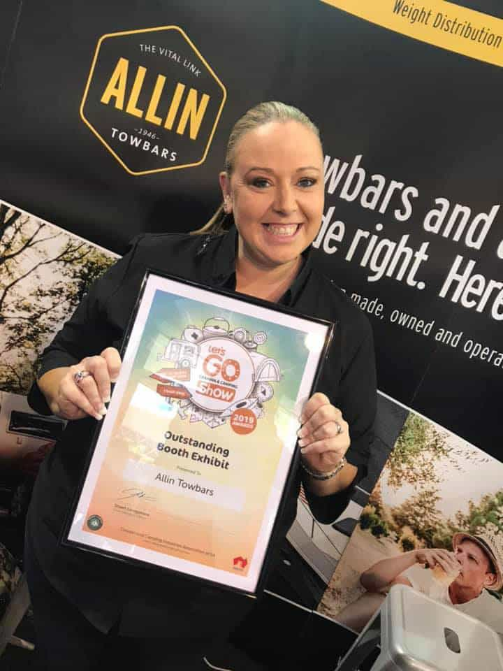 Allin Towbars at the March 2019 Adelaide Showgrounds winning best booth award